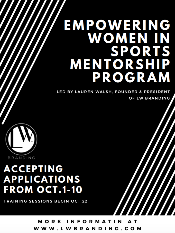 You're Invited: Calling All Women in Sports (and those who want to be) Looking for a Mentor